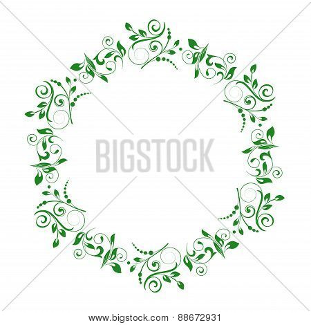 Abstract  Circle Floral Ornamental Border. Vector  Illustration.