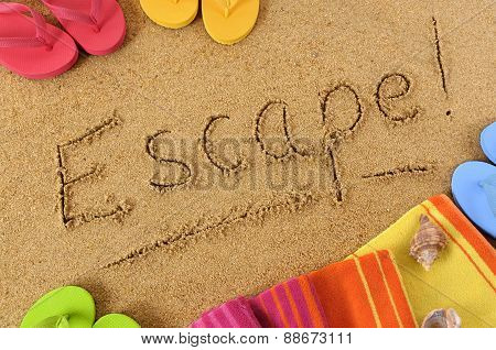 Escape Beach Background