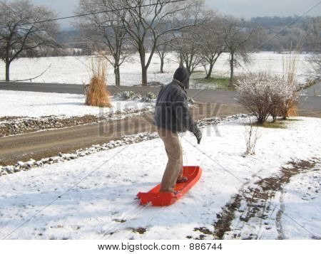 Man On Sled