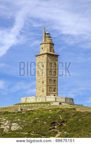Hercules Tower , La Coruna, Galicia, Spain