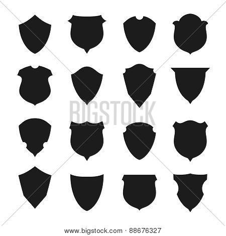 Black and white shield.