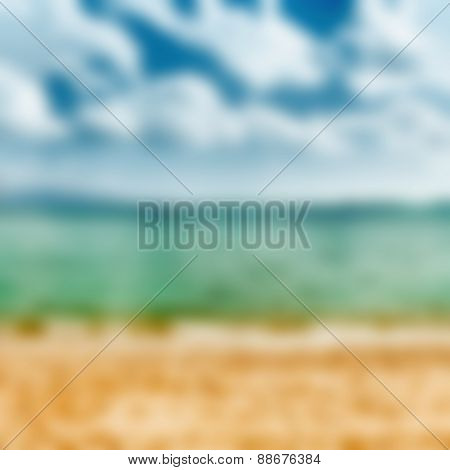 Blurred tropical image