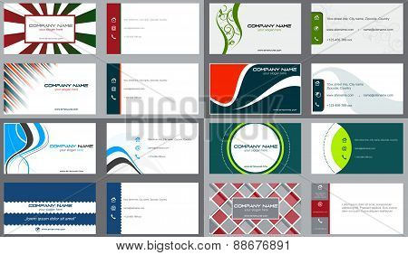Business card or visiting card set
