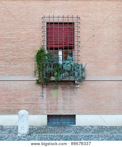 Ancient Architecture In The Downtown Of Ferrara