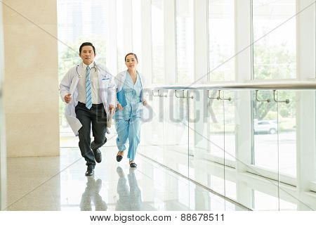 Running Doctor And Nurse