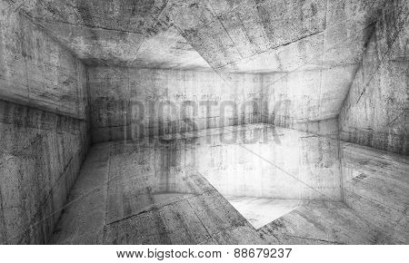 Abstract Chaotic Concrete Interior Background, 3D