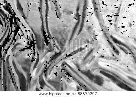 Monochrome Background With Black Spots