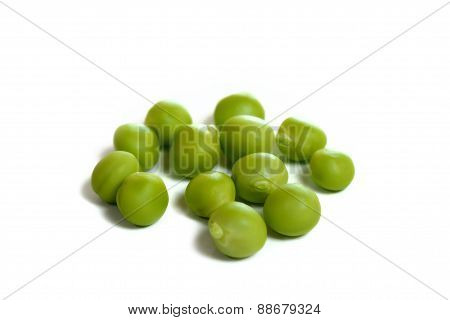 Fresh Sugar Pea On White Background