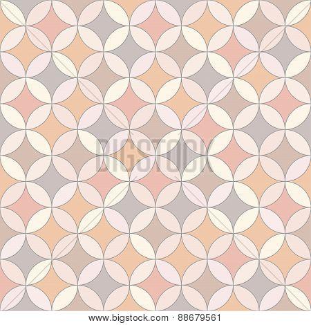 Seamless vector geometric pastel mosaic
