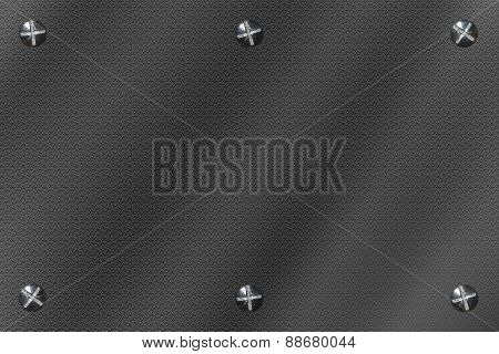 Background Metal Rectangle Six Bolts