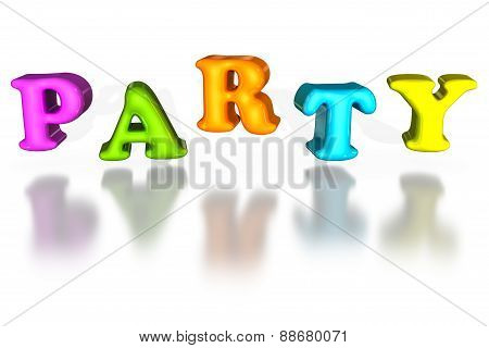 Balloon Inflated Letters Party Colorful 3D