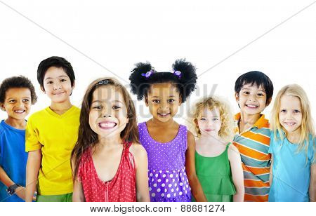Ethnicity Diversity Group of Kids Friendship Cheerful Concept