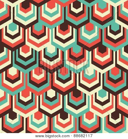 Abstract Hexagon Color Pattern