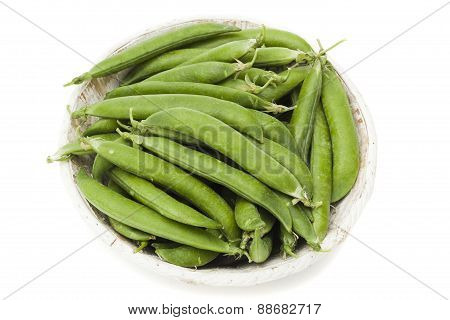 Peas  On A White Background
