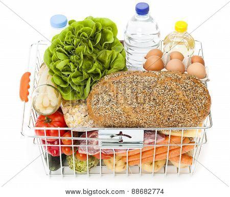 Shopping Basket Full Of Food