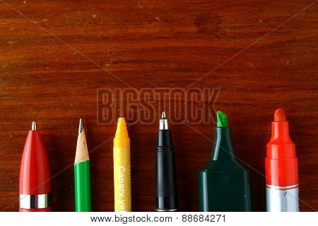 Different writing materials