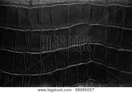 Textured old black genuine leather
