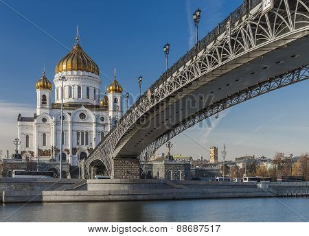 Patriarchal bridge at the Cathedral of Christ the Savior.