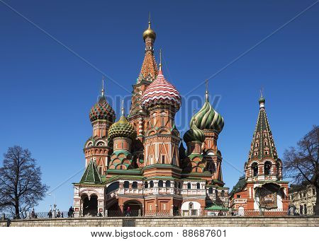 St. Basil's Cathedral On Red Square.