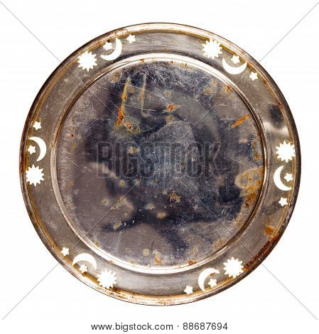 Grungy Old Metal Table Coaster