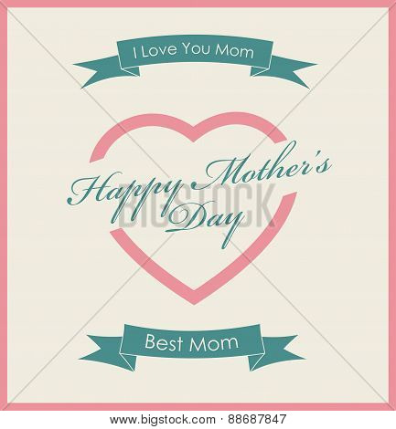 Happy Mother's Day vintage poster