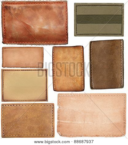 Big Size Set Of Blank Leather Jeans Labels