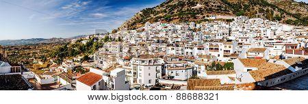 Panorama Of White Village Of Mijas