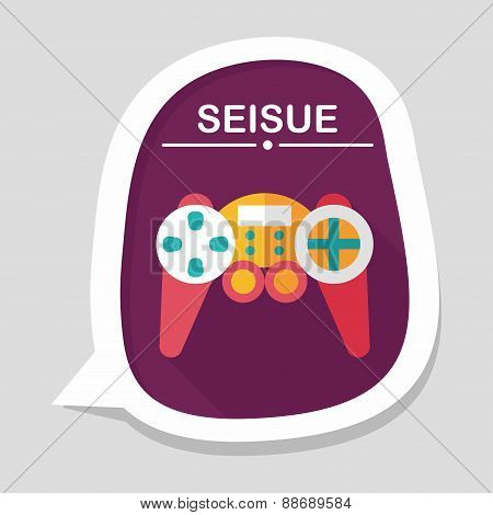 Game Controller Flat Icon With Long Shadow,eps10