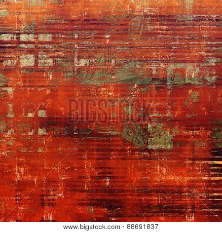 Colorful designed grunge background. With different color patterns: brown; gray; red (orange)
