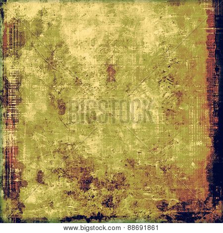 Aging grunge texture, old illustration. With different color patterns: yellow (beige); brown; purple (violet); green