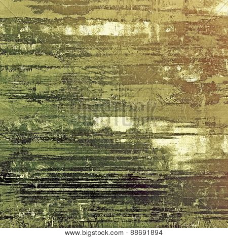Grunge, vintage old background. With different color patterns: brown; gray; green