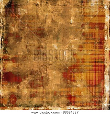 Abstract grunge background of old texture. With different color patterns: yellow (beige); brown; gray; red (orange)