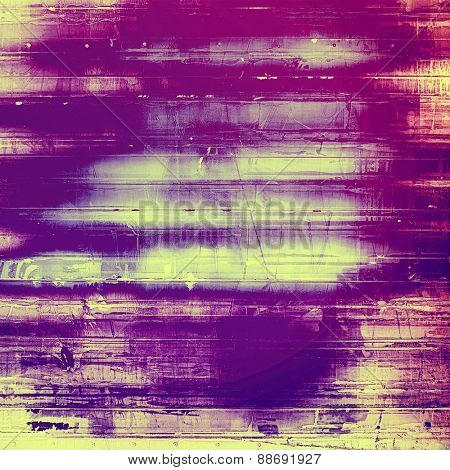 Old texture as abstract grunge background. With different color patterns: yellow (beige); purple (violet); pink