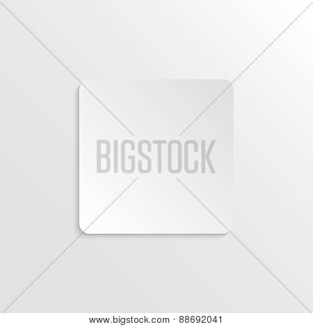 3D paper background with rectangle with place for text