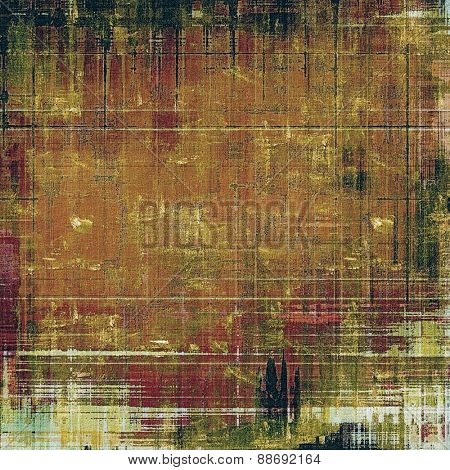 Background in grunge style. With different color patterns: yellow (beige); brown; green; purple (violet)