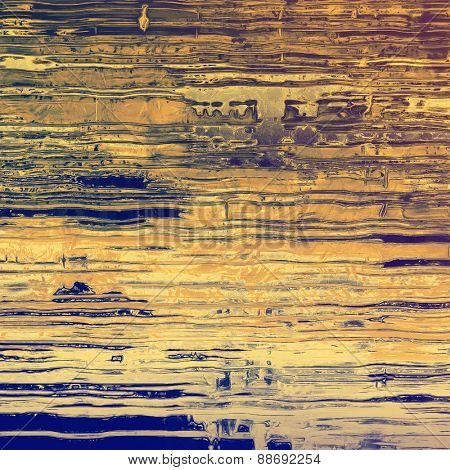 Abstract grunge background of old texture. With different color patterns: yellow (beige); brown; blue; purple (violet)
