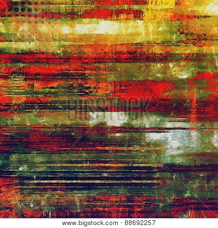 Old school textured background. With different color patterns: yellow (beige); purple (violet); green; red (orange)