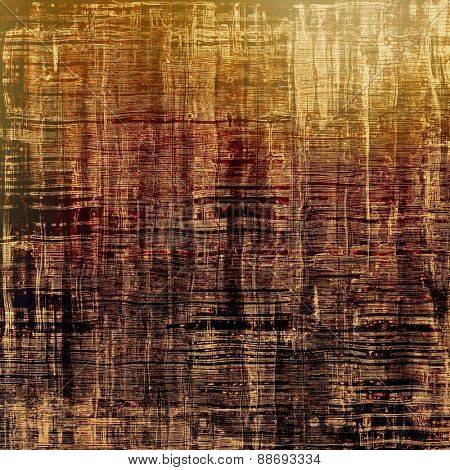 Aging grunge texture, old illustration. With different color patterns: yellow (beige); brown; gray; black