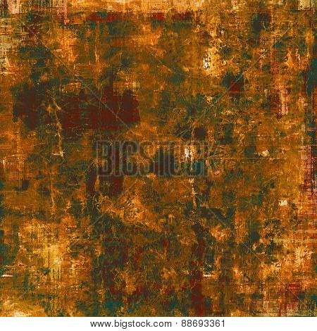 Vintage old texture for background. With different color patterns: yellow (beige); brown; green; red (orange)