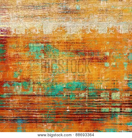 Retro background with grunge texture. With different color patterns: yellow (beige); brown; green; red (orange)
