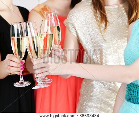 Girls have party celebration