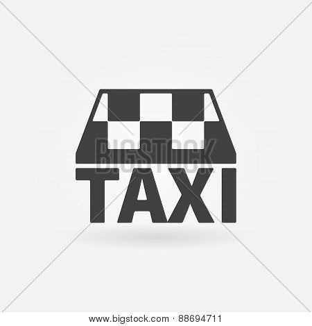 Taxi vector icon or logo