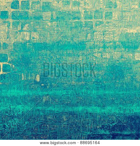 Rough grunge texture. With different color patterns: yellow (beige); blue; cyan