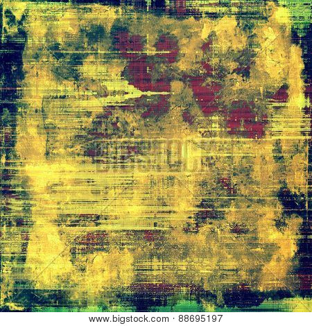 Rough grunge texture. With different color patterns: yellow (beige); green; blue; pink