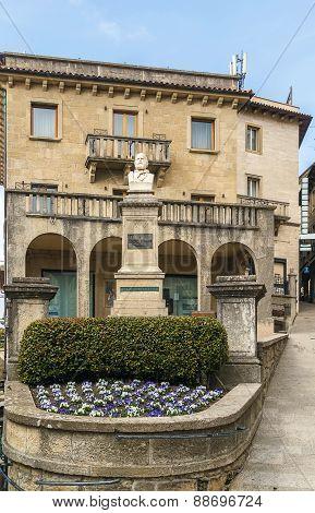 Garibaldi Statue In San Marino