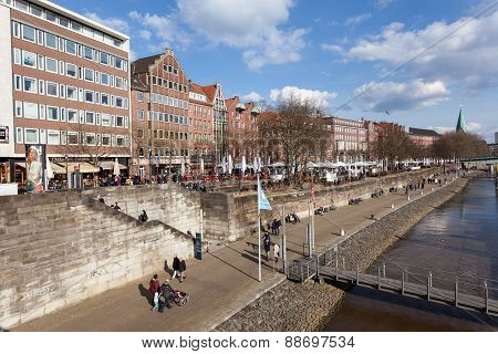 Promenade In Bremen, Germany
