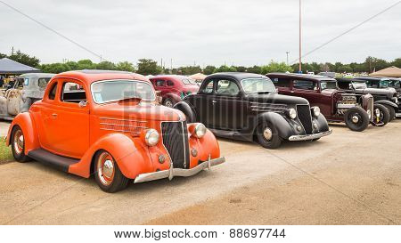 Cars At The Lonestar Round Up