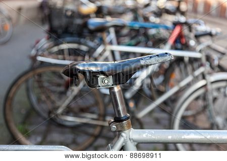 Old Bikes In The City