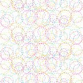 image of dash  - Abstract background of colored circles  - JPG