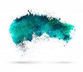 picture of aquamarine  - Aquamarine watercolor splash - JPG